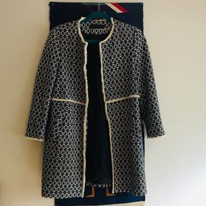 Zara textured coat sz. M